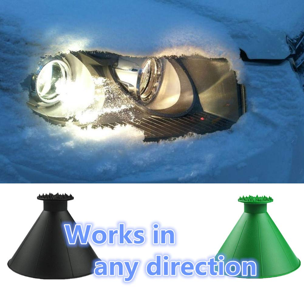 Yoruii Magic Cone-Shaped Car Windshield Ice Scraper Magic Funnel Car Snow Removal Shovel Tool HLovebuy Round Windshield Ice Scraper