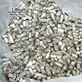 BIG-DEAL 10 Grams High Purity 99.9% Pure Lithium Li Metal Element Sealed Argon
