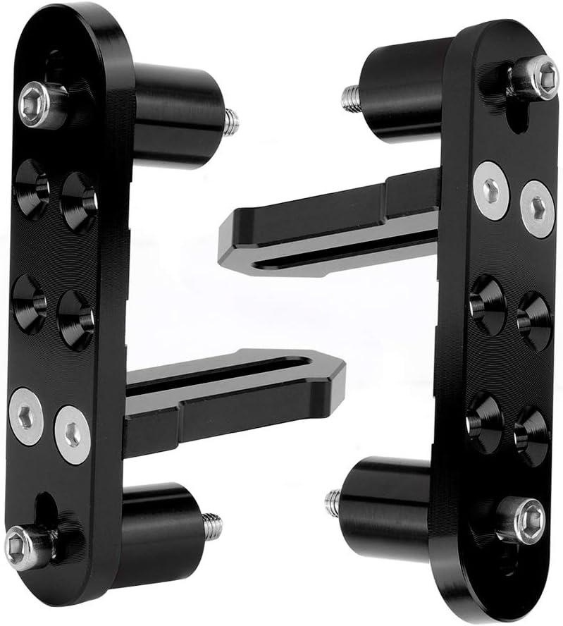 Motorrad CNC Aluminium Legierung Korrosionsschutz Kotfl/ügel vorne Scheinwerferhalter Schwarz Motorrad Scheinwerfer Halter