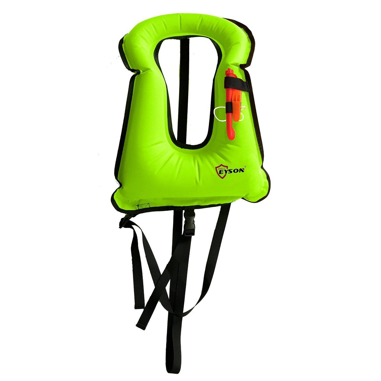 Eyson Snorkeling Diving Swimming Vest Inflatable Life Jacket Vest for Adults