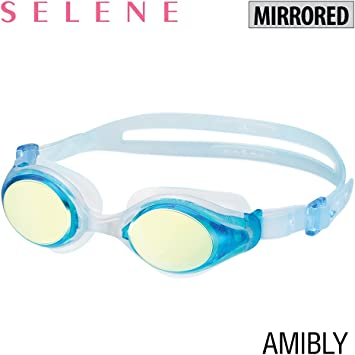 Blue TUSA View Shinari Mirrored Lens Swimming Goggles Smoke