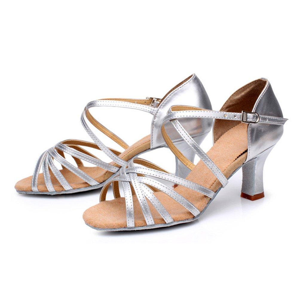 YFCH Mujer Zapatos de Tac/ón para Baile Latino Est/ándar Zapatillas de Baile de Sal/ón Salsa Tango