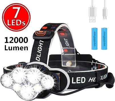 USB Recharge Sensor Head Torch Night Light Cycling Running LED Bright Headlamp