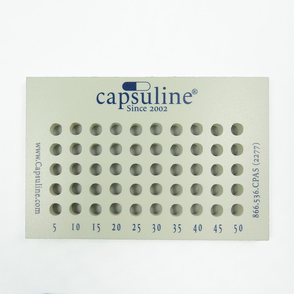 Capsuline Size 00 Capsule Holding Tray - 50 Count