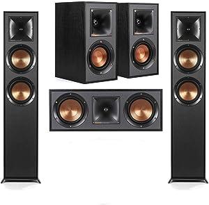 Klipsch 2 Pack R-625FA Dolby Atmos Floor standing Speaker - Bundle With R-41M Bookshelf Home Speakers, R-52C Center Channel home speaker,