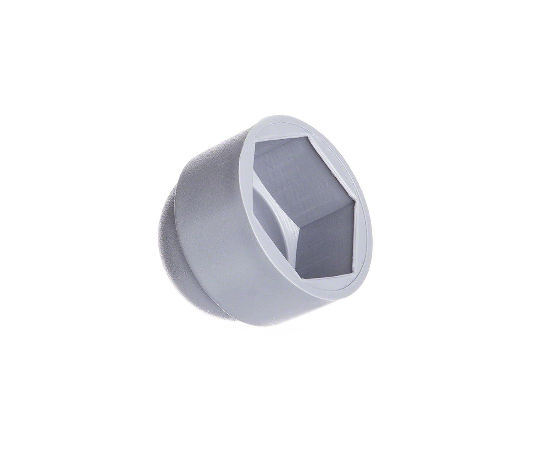 50 pcs. cache-écrous M10 (pour la clé 17) gris Bouchons Capuchon Embout EMFA