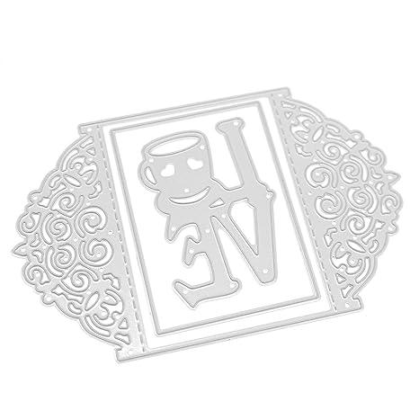 whitelotous plantillas de corte diseño de metal plantilla molde para DIY álbum de recortes Tarjeta de