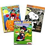 Disney Peanuts Halloween Coloring Books Super Set Kids Toddlers (3 Books Featuring Disney Mickey Mouse, Charlie Brown, Elmo and More!)