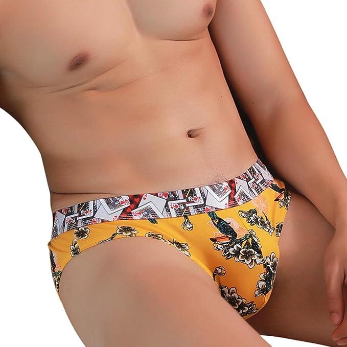 Bóxer para Hombre, ❤️Xinantime Sexy Tanga Moda Imprimir Calzoncillos Boxer Hombre Calzoncillos Hombre Algodon