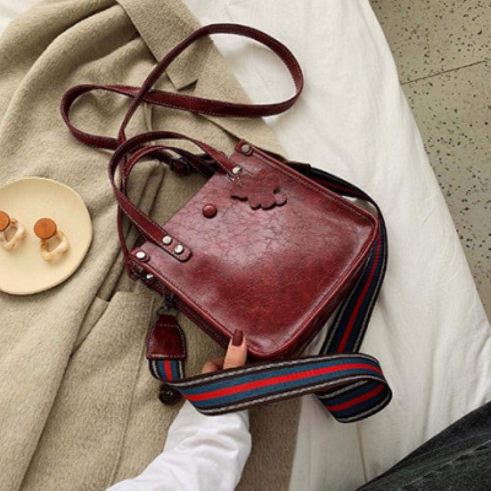 ABO Borsa da donna piccola a tracolla larga Borse a tracolla femminile Crossbody Messenger Borse in pelle PU Ladies Totes nero rosa Rosa