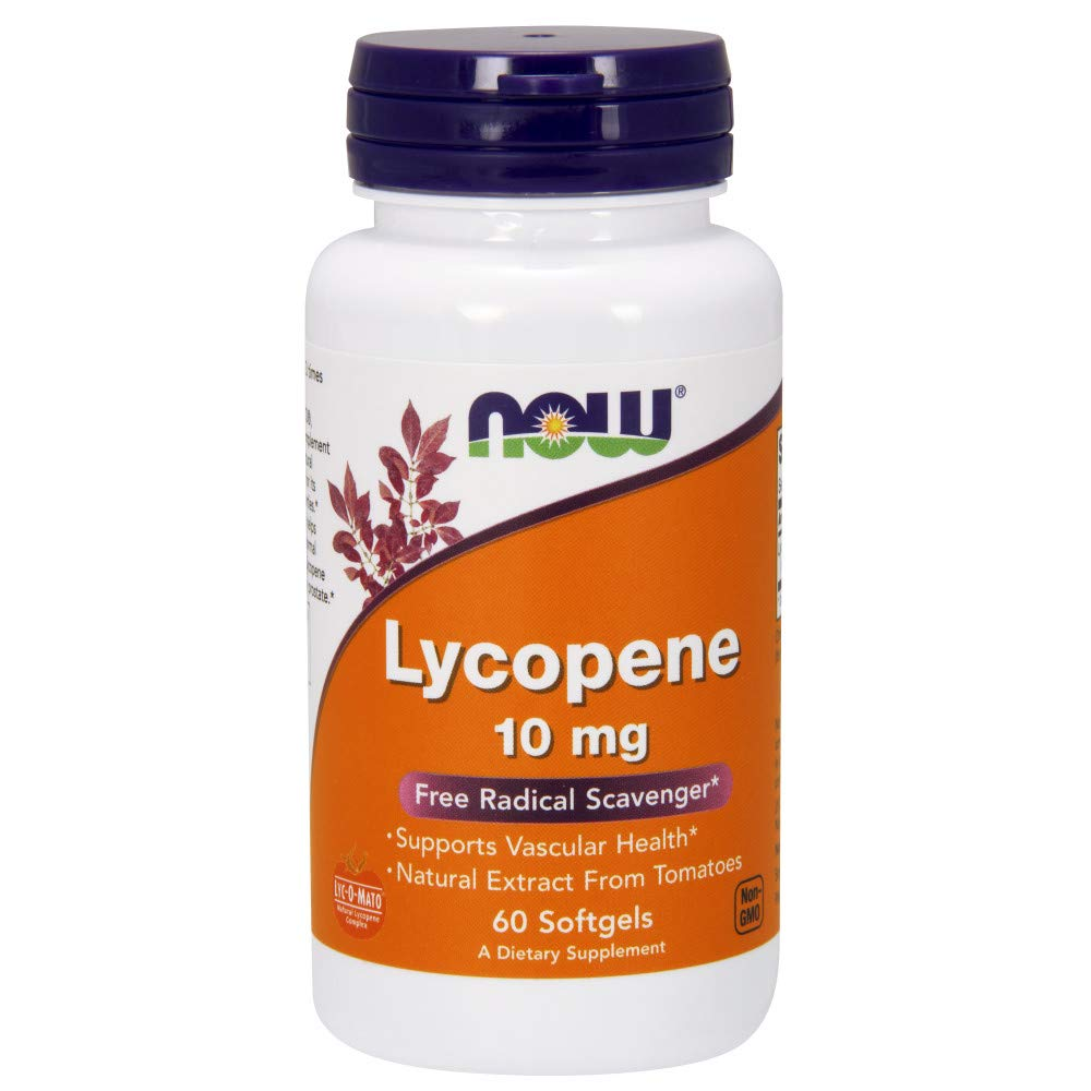 NOW Supplements, Lycopene 10 mg with Natural Extract from Tomatoes, 60 Softgels by NOW Foods