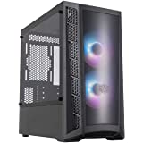 Cooler Master MasterBox MCB-B320L-KGNN-S02 Micro-ATX with Dual ARGB Fans, DarkMirror Front Panel, Mesh Front Intake Vents, an