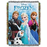 "Frozen, Frozen Fun Woven Tapestry Throw, 48"" x 60"""