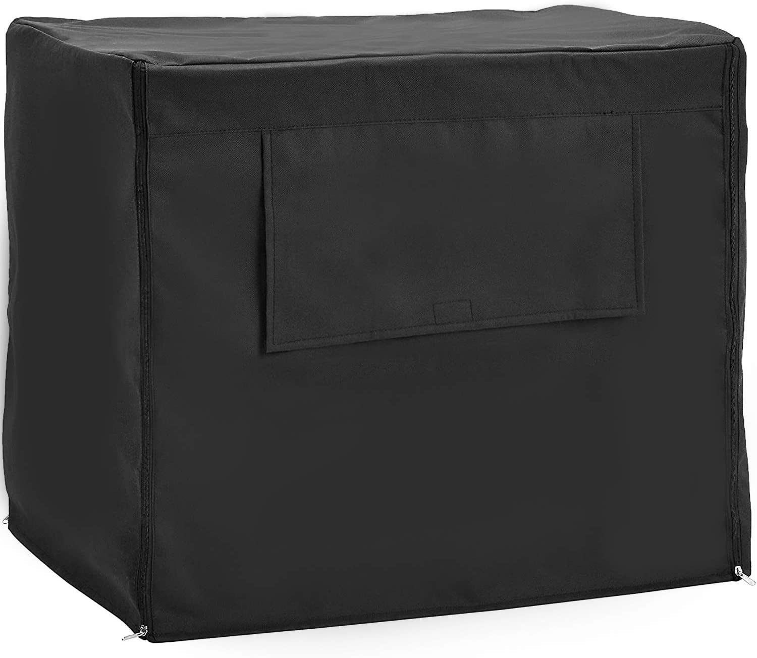 Downtown Pet Supply Universal Fit Dog Crate Cover with Side Windows, XL Pet Polyester Pet Kennel Cage Covering, Removeable Privacy Canvas Carrier with Secure Buckles (42 Inch)