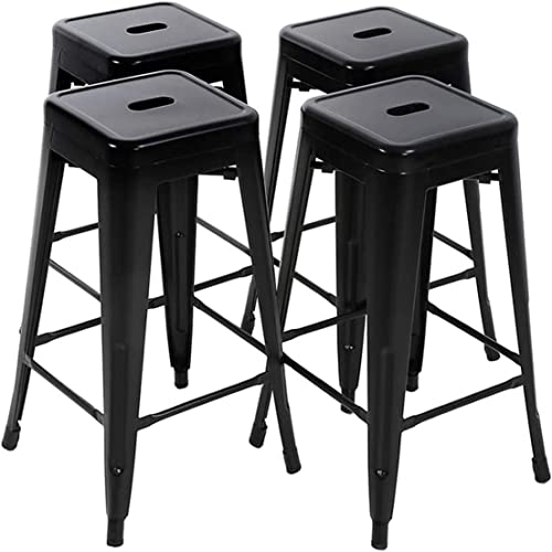 LCH-Bar-Stool-Chair,-30-inch-Metal-Stools-Barstools-Set-of-4-Indoor-Outdoor-Restaurant,-Kitchen---Black
