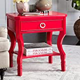 Safavieh FOX6275E Night Stand, Normal, Red