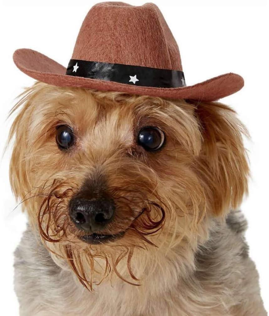 ULTECHNOVO Hund Cowboyhut Haustier Cowboy Cosplay M/ütze Welpe Haustier Hund Katze Winterurlaub Kost/üm Foto Requisite f/ür Zuhause Katze Hund Haustier Party Dekoration Kaffee