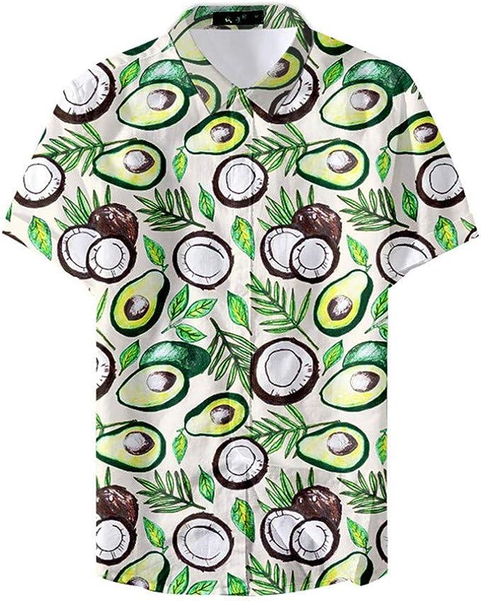 Fansu 3D Camisa Hawaiana para Hombre, Fiesta Tropical de Manga Corta Impreso Camisas de Trabajo Surf Funky Camisa Señores Playa: Amazon.es: Ropa y accesorios