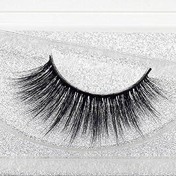 9cbfd9b48b5 Amazon.com : Beauty Mink Eyelashes 3D MINK False Eyelashes Messy Cross  Dramatic Fake Eye Lashes Professional Makeup Lashes : Beauty