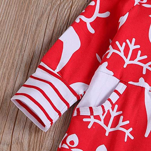 Pagliaccetto per Angelof Abbigliamento Baby Pagliaccetto Theme invernale Rosso Christmas Carnival Costume Natale Accessori Compleanno di lunghe Girl bebè Regalo a maniche wSSzBrx