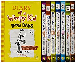 Buy diary of a wimpy kid box of books 1 8 the do it yourself book flip to back flip to front solutioingenieria Choice Image