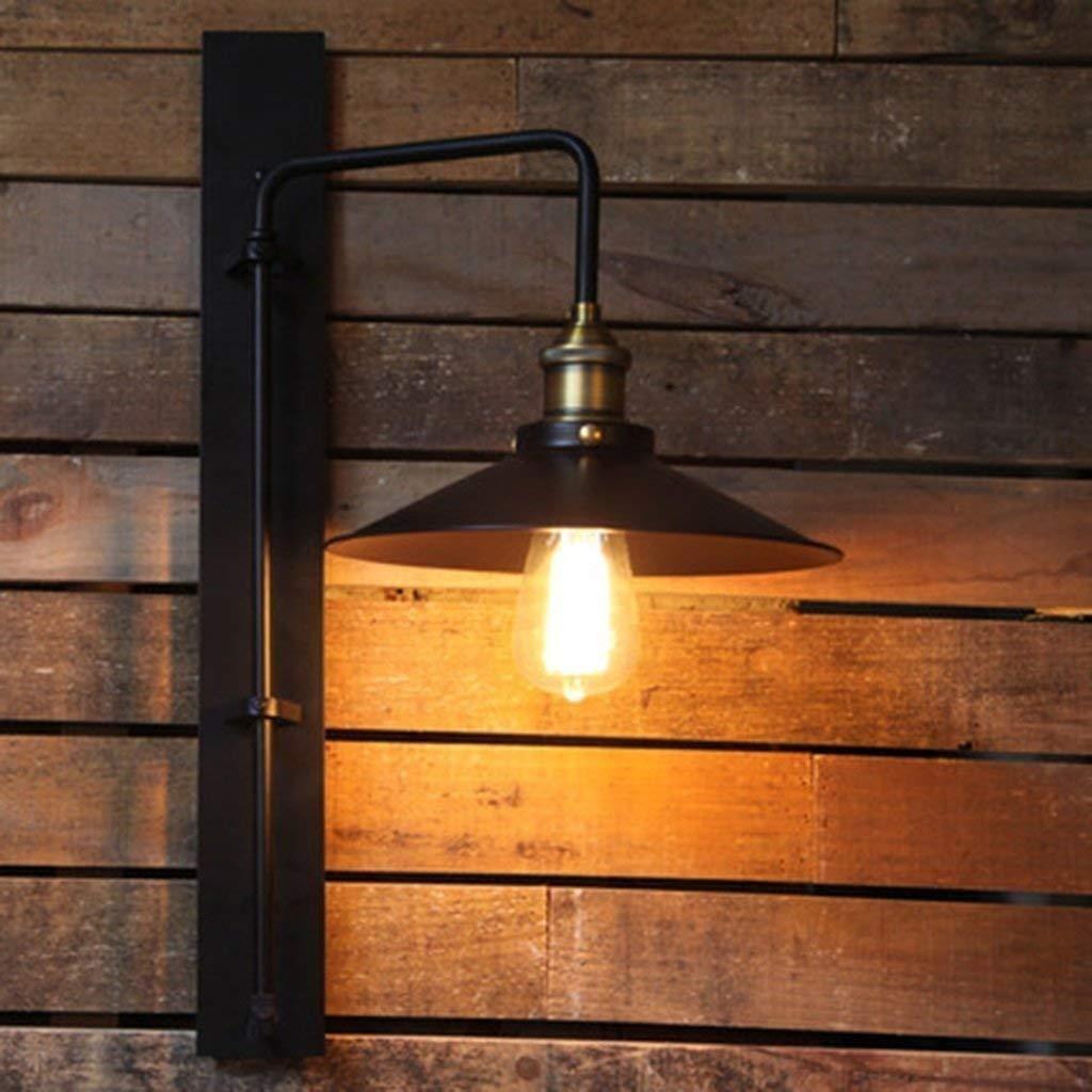 Chuiqingwang クリエイティブロフト工業用ランプ通路階段風レトロラウンジ装飾壁の壁照明用ランプ (サイズ : ブラック) B07SFMBBHV  ブラック