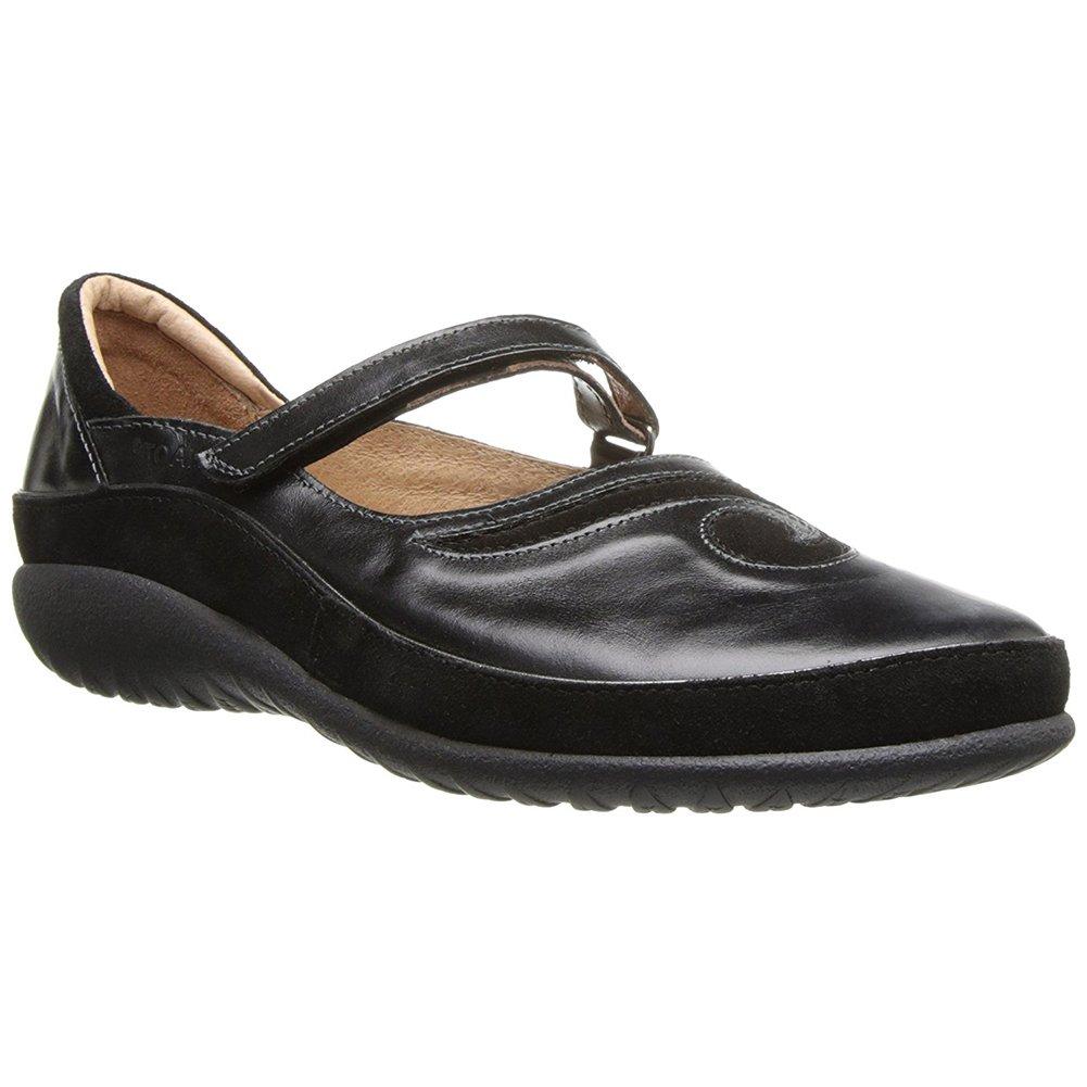 NAOT Matai Koru Women Flats Shoes B01M705H67 35 M EU Black Madras/Black Suede