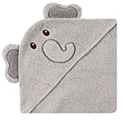Luvable Friends Animal Face Hooded Towel, Elephant