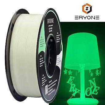 1kg Eryone Glow Green in The Dark PLA 3D Printer Filament 1.75mm 2.2LBS // Spool Dimensional Accuracy +//- 0.05 mm