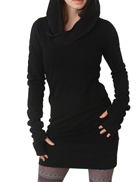 AEETE Womens Ninja Hoodies Long Sleeve Bodycon Pullover ...