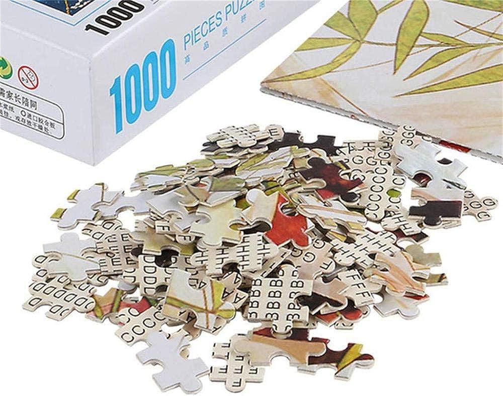 Gbksmm 1000 Stück Puzzle Für Erwachsene Elegante Buchspiele Papppuzzles Home Decoration Stressabbau Spielzeugsets Für Familien 420 × 297Mm C
