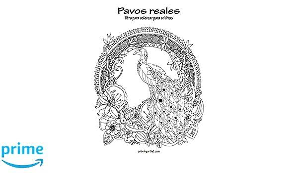 Amazon.com: Pavos reales libro para colorear para adultos 1 (Volume ...