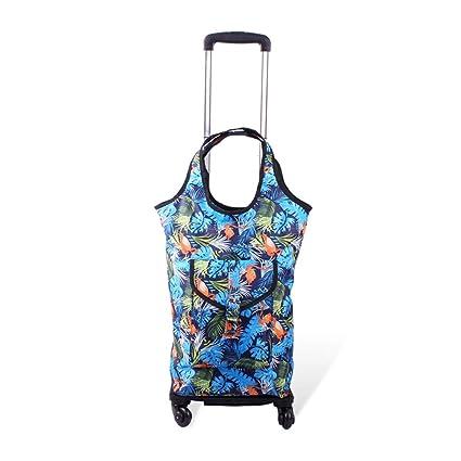Amazon.com : Shopping cart Folding Shopping Cart Telescopic ...