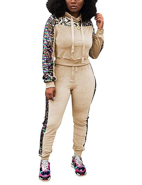 Amazon.com: Angsuttc - Conjunto de traje de mujer con ...