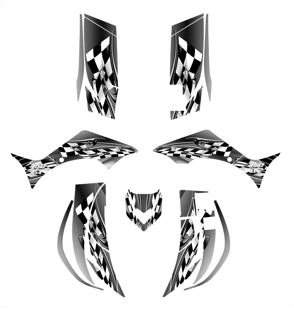 Yamaha Wolverine 450 2006 – 2008グラフィックスデカールキットby Allmotorgraphics no2500メタル   B00SF8AWMK