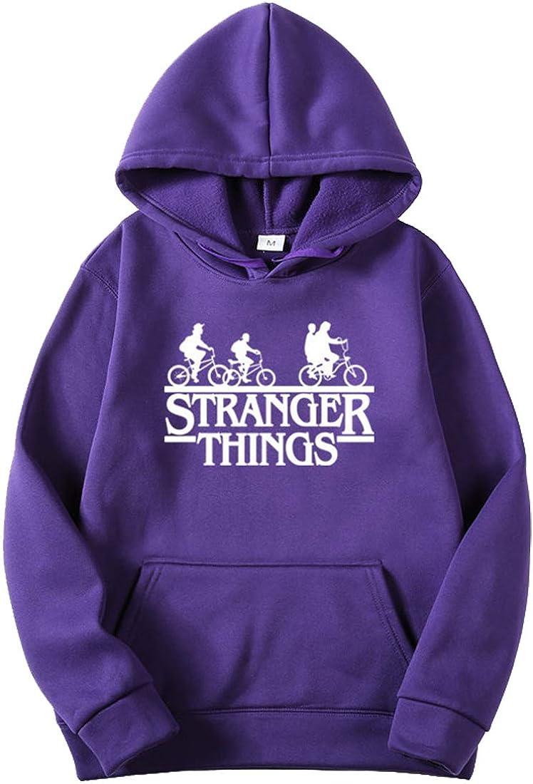 OLIPHEE Sudaderas con Capucha Impresi/ón Logo de Stranger Things para Hombre
