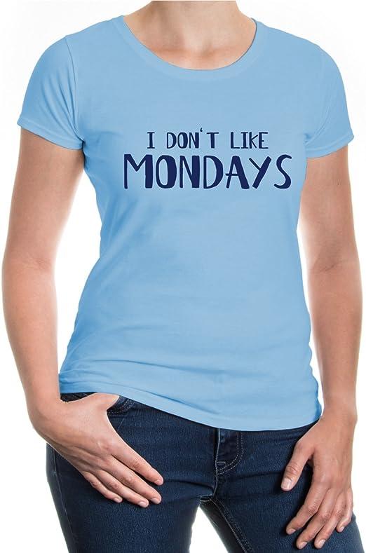 buXsbaum – Camiseta, diseño I Dont Like Los Lunes Azul Azul ...