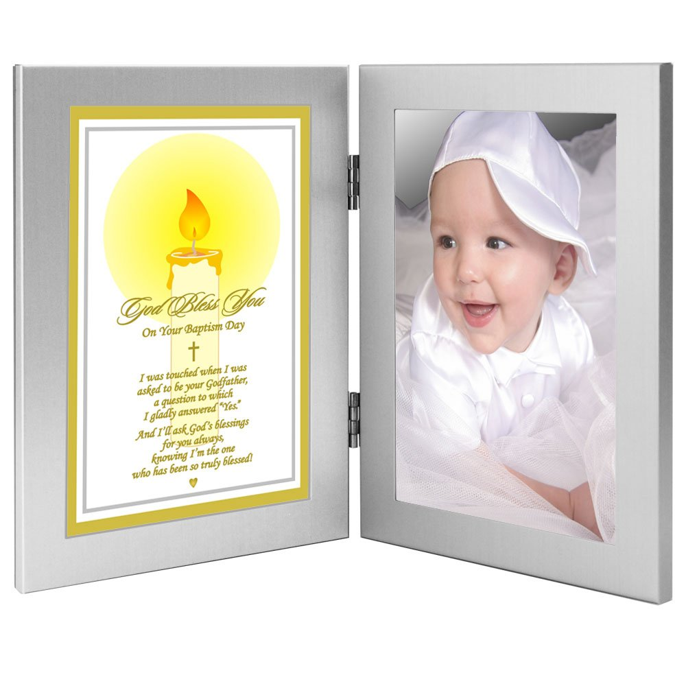 Godchild Frame with Poem from Godfather - Baptism Gift to Godson or Goddaughter - Add Photo by Poetry Gifts   B01J49L06K
