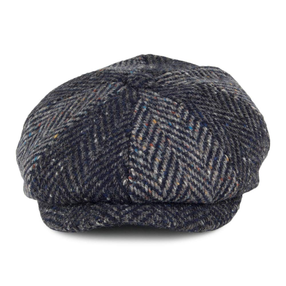 Failsworth Hats Magee Donegal Tweed Newsboy Cap - Blue-Multi 55   Amazon.co.uk  Clothing 0d1a0cd08815