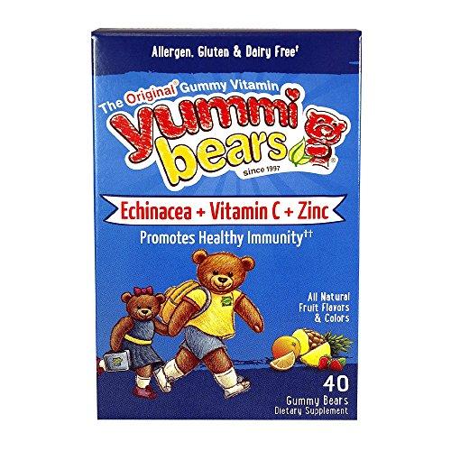 Yummi Bear Echinacea, Vitamin C & Zinc, 40 Chews