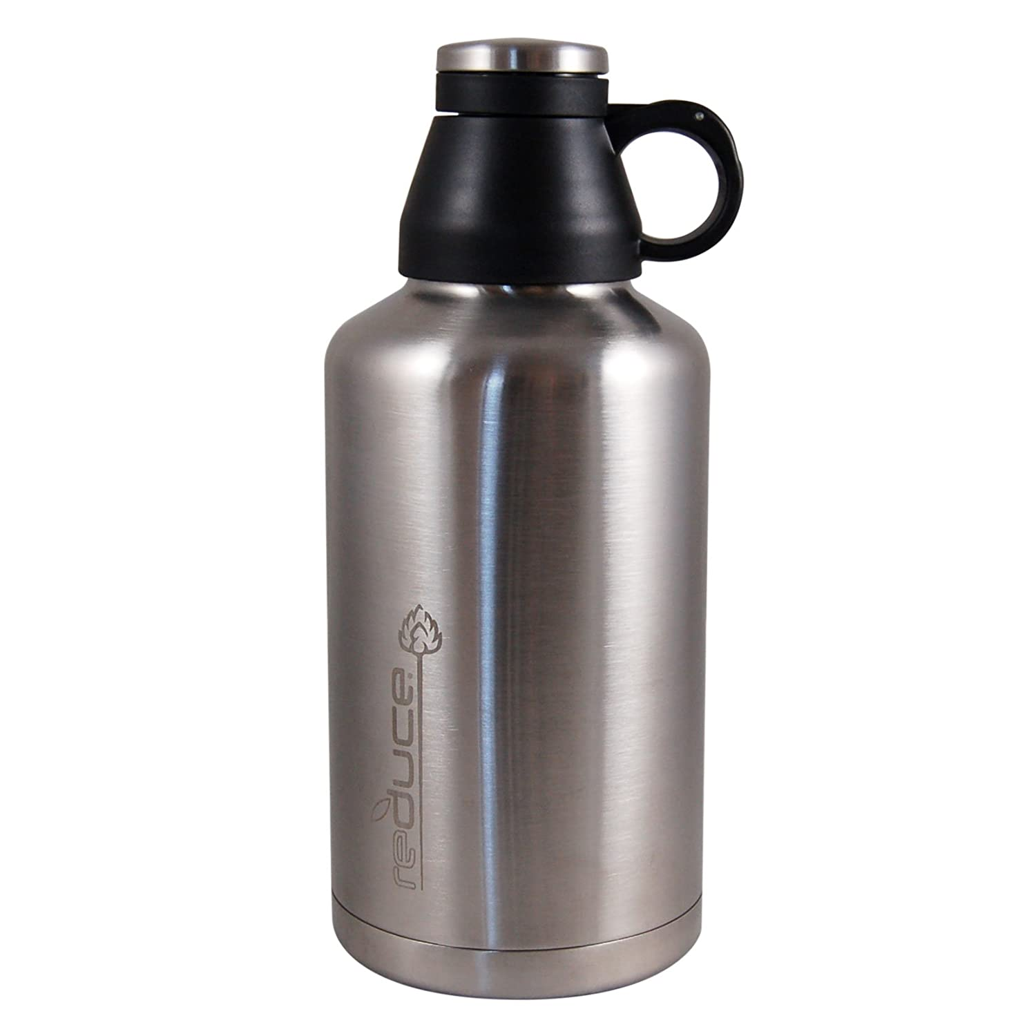 Reduce Vacuum Beer Growler, 64-Ounce, Stainless Steel 1127