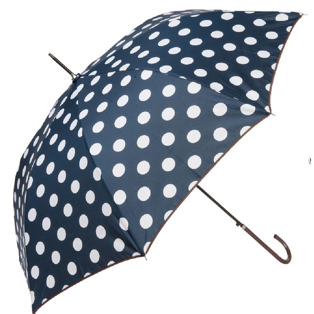 Clayre & Eef Stockschirm blau Punkte Regenschirm Damen Schirm Hazel