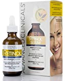 Advanced Clinicals Professional Strength Retinol Serum Anti Aging Wrinkle Reducing 1.75 Ounce Multi