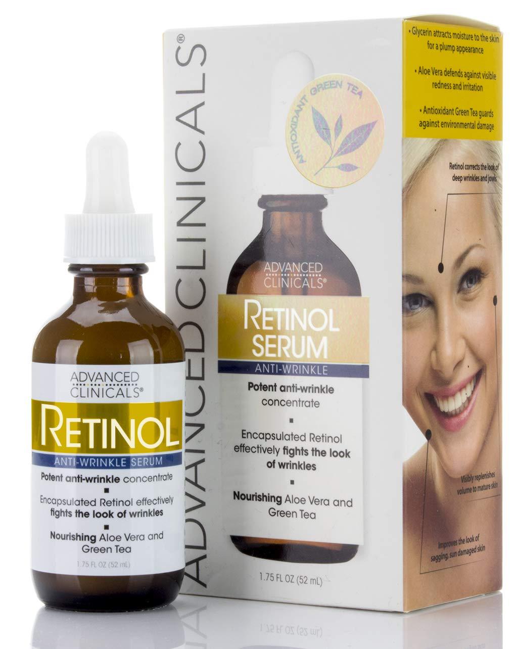 Advanced Clinicals Professional Strength Retinol Serum. Anti-aging, Wrinkle Reducing (1.75oz)