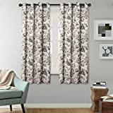 63 inch curtains 2 panel - H.Versailtex Thermal Insulated Blackout Window Room Grommet Curtain Drapes-52 inch Width by 63 inch Length-Set of 2 Panels-Vintage Floral Pattern in Sage and Brown