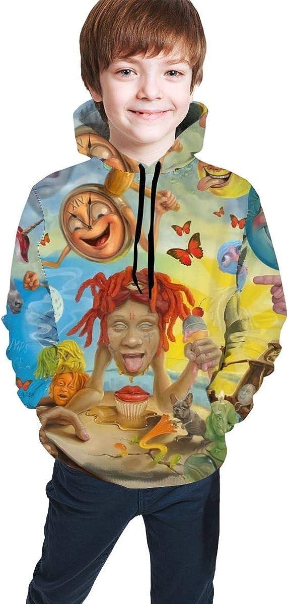 Dawnmnartine Trippie Redd Youth Hoodie 3D Printed Pattern Hoodie Sweater Teenager für Girls und Boys Hooded Sweatshirt