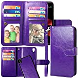 LG Tribute HD Case, LG X Style Case, LG Volt 3 Case, Harryshell Luxury 12 Card Slots PU Leather Wallet Flip Protective Case Cover with Wrist Strap for LG Tribute HD LS676 / X Style / Volt 3 (E-2)