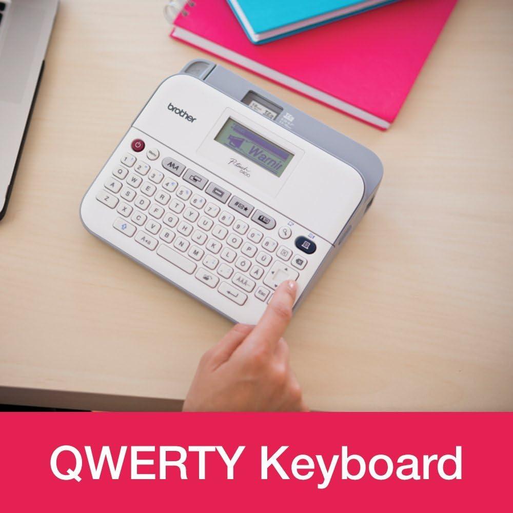 QWERTY teclado P-Touch Labeller escritorio Brother PT-D400 Label Maker