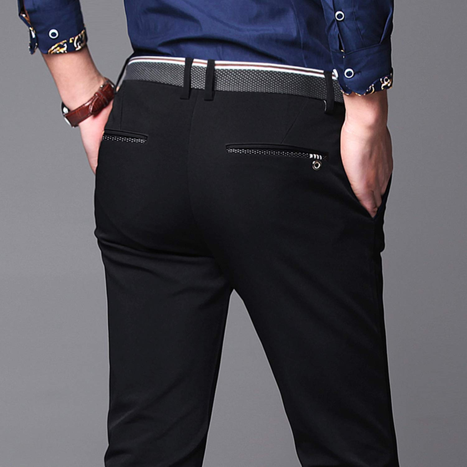Brand Men Pants Casual Mens Trousers Classics Mid Weight Straight Full Length Fashion Pant