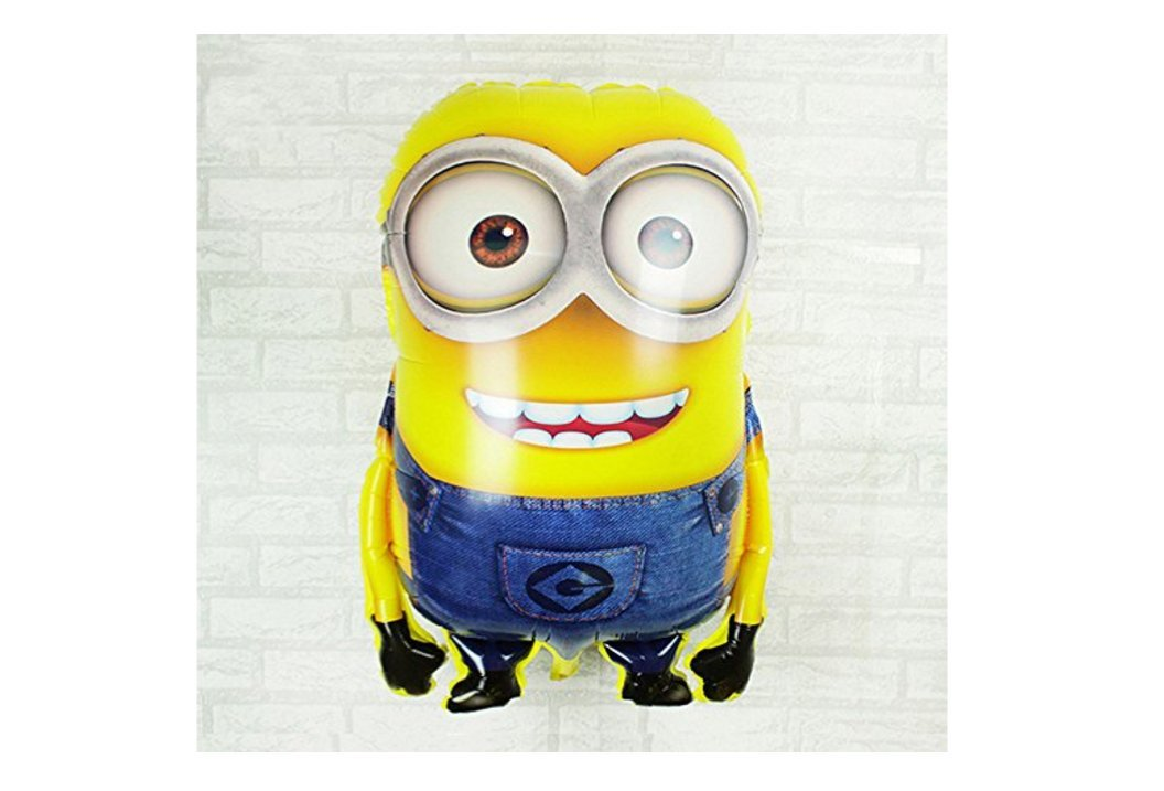 1pcs 92*65cm Hot Sale Minions Inflatable Balloons Despicable Me 2 Large Size Foil Balloons Cartoon Kids Classic Toys by Thai